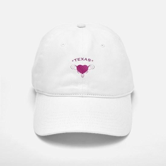 Texas State (Heart) Gifts Baseball Baseball Cap