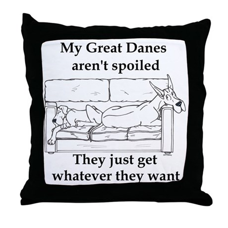 My spoiled Throw Pillow