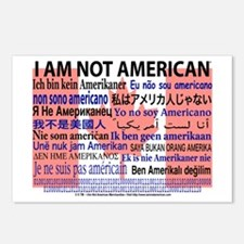 """I am not American"" Canadian flag Postcards"