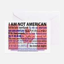 """I am not American"" Canadian flag Greeting Cards"