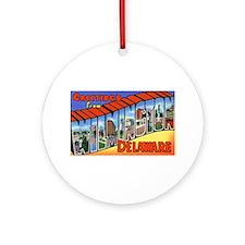 Wilmington Delaware Greetings Ornament (Round)