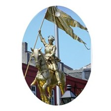 Joan of Arc Oval Ornament