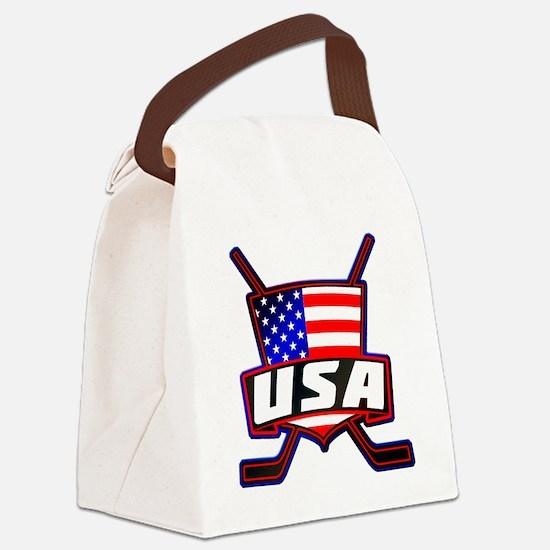 American Hockey Shield Logo Canvas Lunch Bag