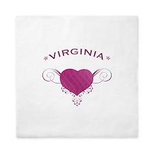 Virgina State (Heart) Gifts Queen Duvet
