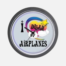 I Dream of Airplanes Wall Clock