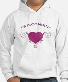 Wisconsin State (Heart) Gifts Hoodie