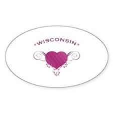 Wisconsin State (Heart) Gifts Decal