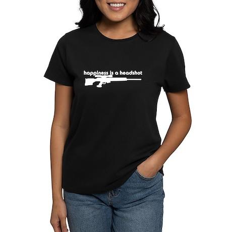 Happiness is a Headshot Women's Dark T-Shirt