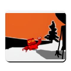 redrobosnow orange sky Mousepad