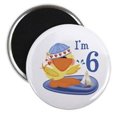Duckie Boy 6th Birthday Magnet