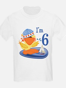 Duckie Boy 6th Birthday Kids T-Shirt