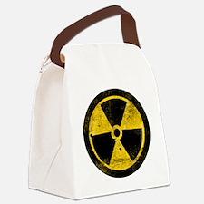 Grunge Radioactive Symbol Canvas Lunch Bag