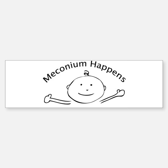 meconiumOvalrevised Bumper Bumper Bumper Sticker
