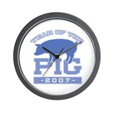 Collegiate Year of Pig Wall Clock