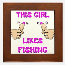 This Girl Likes Fishing Framed Tile