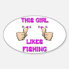 This Girl Likes Fishing Decal
