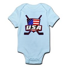 American Hockey Shield Logo Body Suit