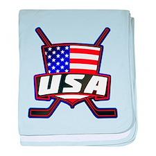 American Hockey Shield Logo baby blanket