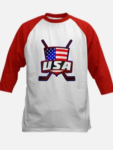 American Hockey Shield Logo Baseball Jersey