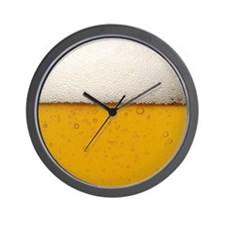 Close-Up Beer Bubbles Wall Clock