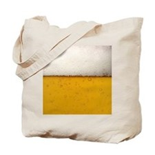 Close-Up Beer Bubbles Tote Bag