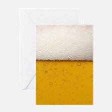 Close-Up Beer Bubbles Greeting Card