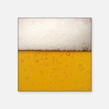 """Close-Up Beer Bubbles Square Sticker 3"""" x 3"""""""