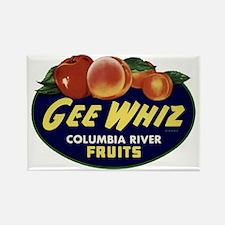 Colorful Fruit Vintage Label Rectangle Magnet