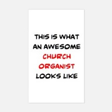 awesome church organist Sticker (Rectangle)