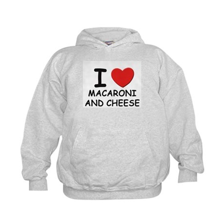 I love macaroni and cheese Kids Hoodie