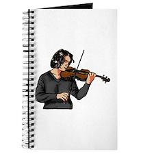 Violin female player grey shirt Journal