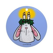 Candle Bunny Ornament (Round)