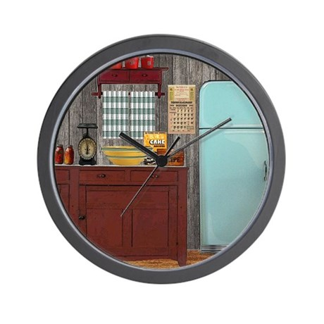 Country kitchen 1 wall clock by enloeart - Small kitchen clock for wall ...