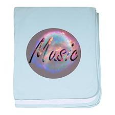 Music text nova background round baby blanket