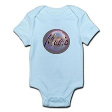 Music text nova background round Body Suit