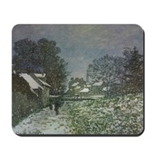 Snow at Argenteuil II by Claude Monet Mousepad