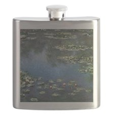 Waterlilies by Claude Monet Flask