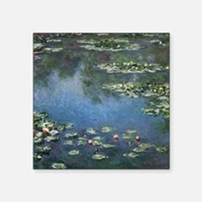 "Waterlilies by Claude Monet Square Sticker 3"" x 3"""