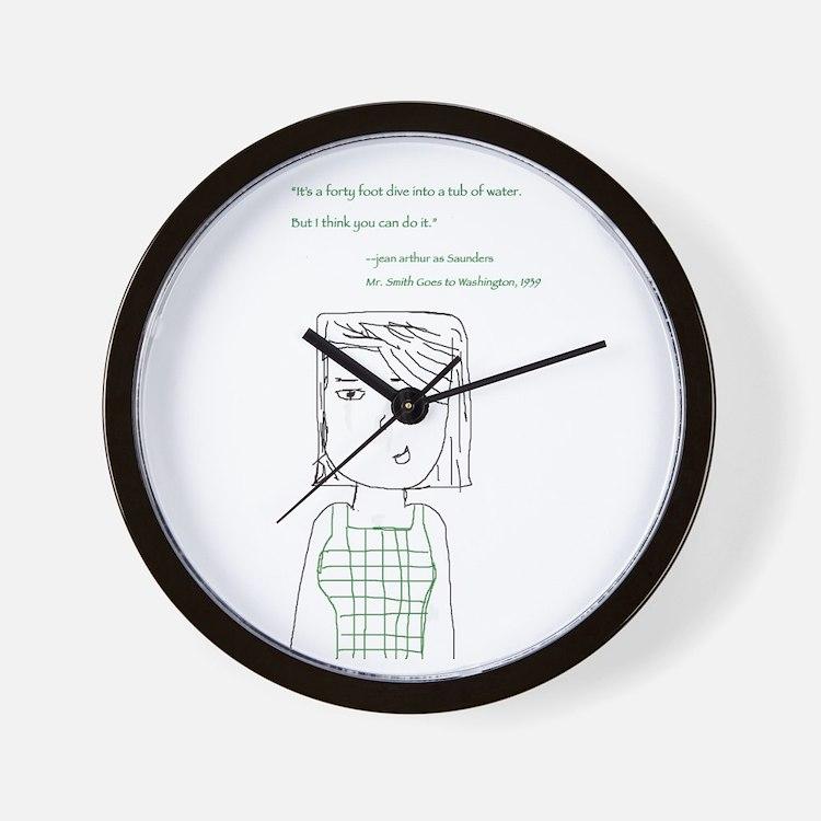 Jean Arthur Wall Clock