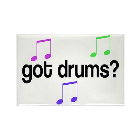 Got Drums Rectangle Magnet