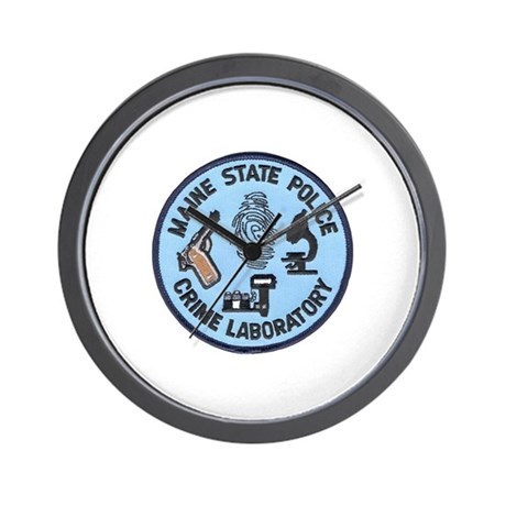 Maine State Police C.S.I. Wall Clock