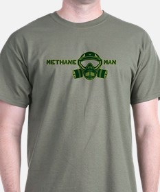 Dark Methane Man-Green T-Shirt