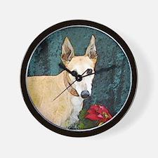 Greyhound Christmas Kaityln Wall Clock