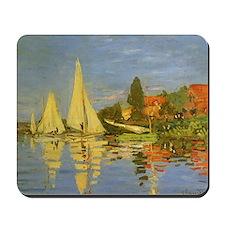 Regatta at Argenteuil by Claude Monet Mousepad