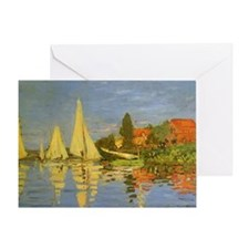 Regatta at Argenteuil by Claude Mone Greeting Card