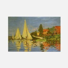 Regatta at Argenteuil by Claude M Rectangle Magnet