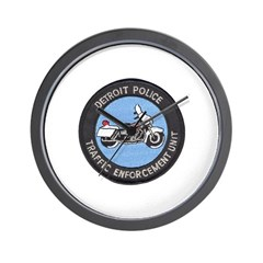 Detroit PD Traffic Wall Clock