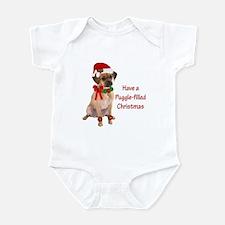 Christmas Puggle Infant Bodysuit