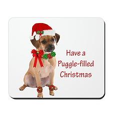 Christmas Puggle Mousepad