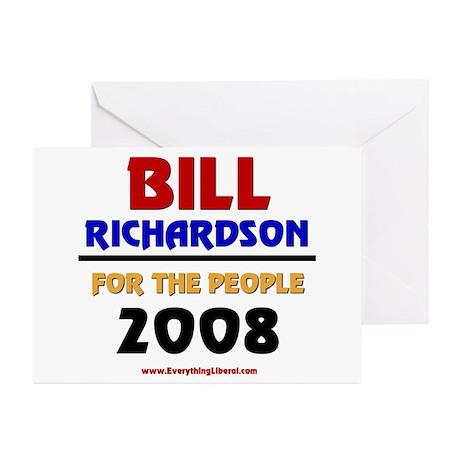 Bill Richardson 2008 Greeting Cards (Pk of 10)